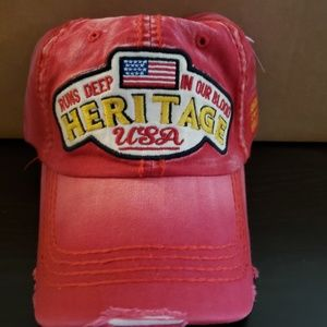 Red USA Heritage Hat